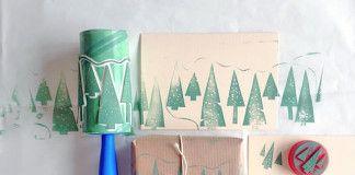 Ako využiť čistiaci valček na zdobenie vianočných pozdravov | DIY návod