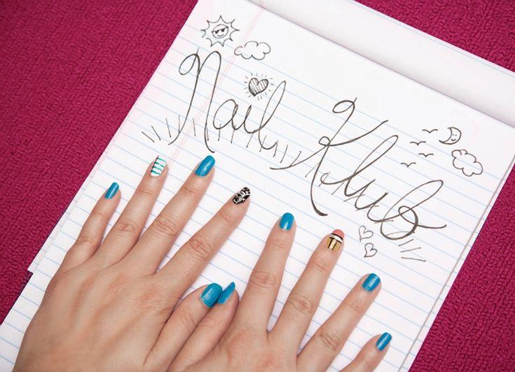 The 25 best school nail art ideas on pinterest nail ideas for nail klub back to school nail art prinsesfo Gallery