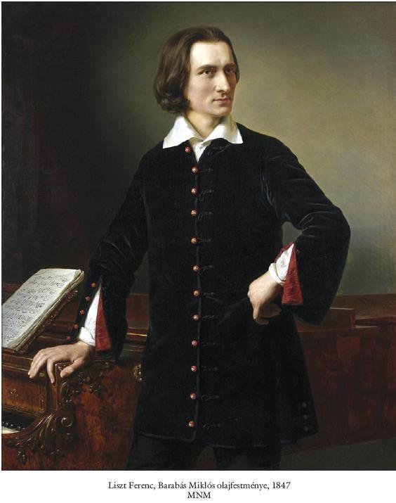 Franz Liszt Ölgemälde von Miklós Barabás (1847).
