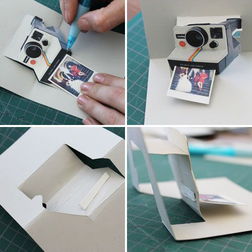 Pop-Up Card  (polaroid camera, computer screen, typewriter)