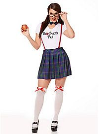 Adult I Love Nerds School Girl Costume
