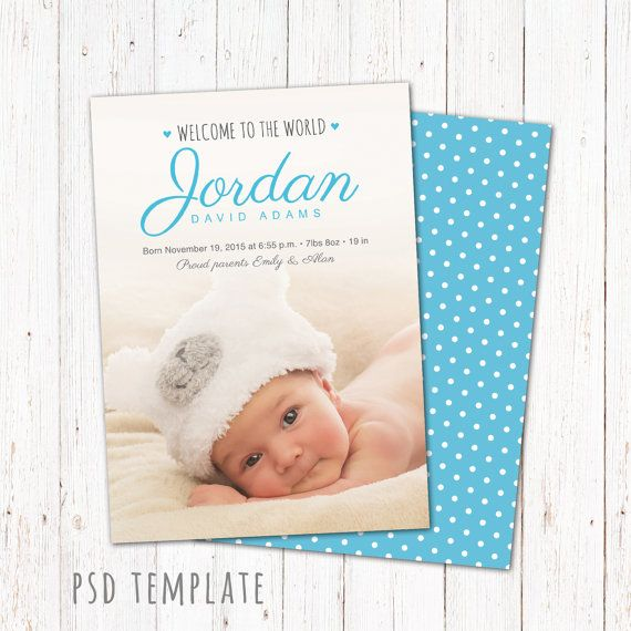 15 best Birth Announcement Templates images – Baby Boy Birth Announcements Templates