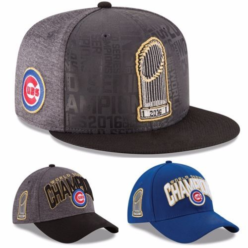 Official 2016 World Series Champions Champs Chicago Cubs New Embodery Cap Hat Chicago Cubs Adjustable Unisex Cap Hot Sell