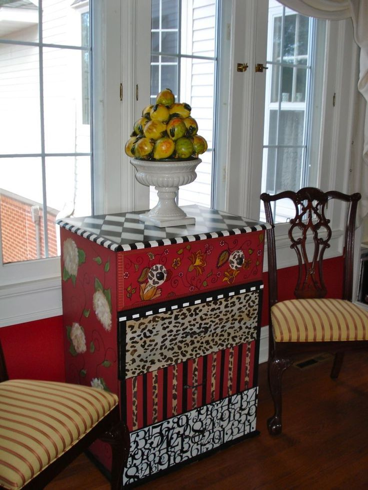 Hand Painted Furniture | Funky Hand Painted Furniture in a Traditional Home | Painted Furniture