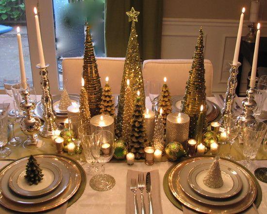 Christmas Tablescape: Christmasdecor, Idea, Tables Sets, Christmas Centerpieces, Christmas Tables, Holidays Tables, Christmas Decor, Gold Christmas, Tables Decor