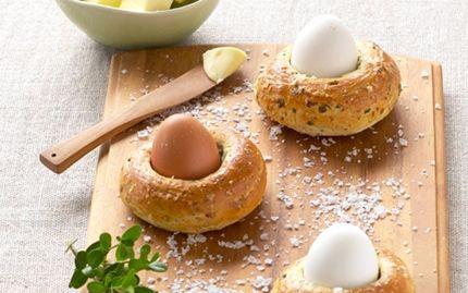 Påskereder med blødkogte æg
