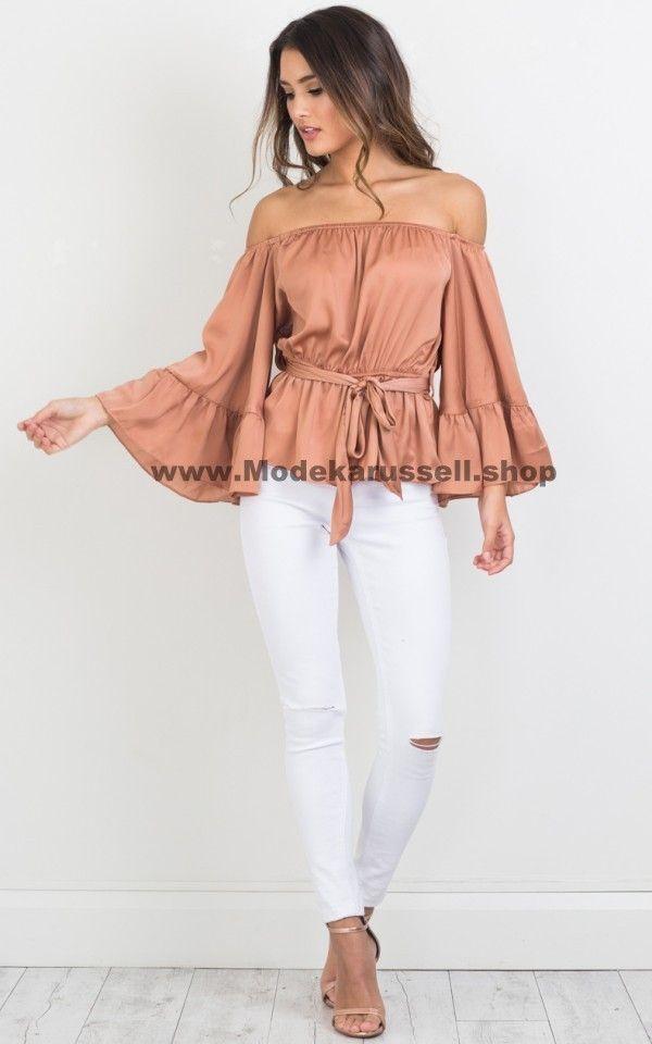 c185faf329e Damen Edel Sommer Bluse Beige - Schwarz  mode  fashion  damen  women ...