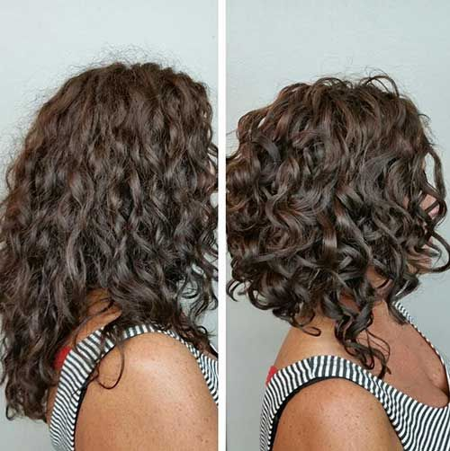 16.Bob Haircut für lockiges Haar