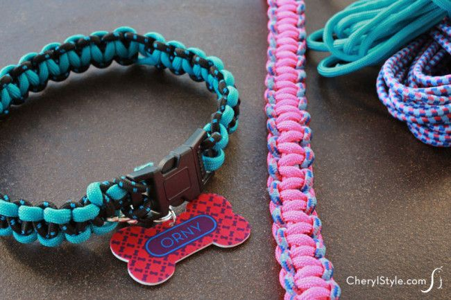 Dog collars collars and paracord on pinterest for Paracord leash instructions