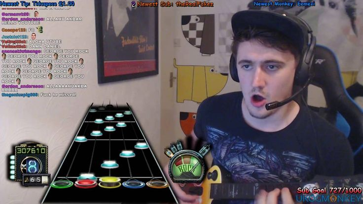 I love this guy's reaction to his own incredible skill [Guitar Hero]