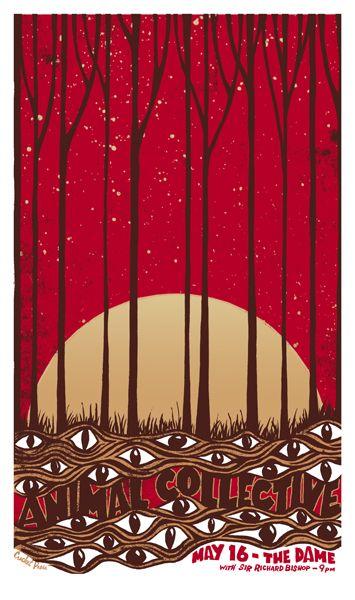 GigPosters.com - Animal Collective - Sir Richard Bishop - love this poster!