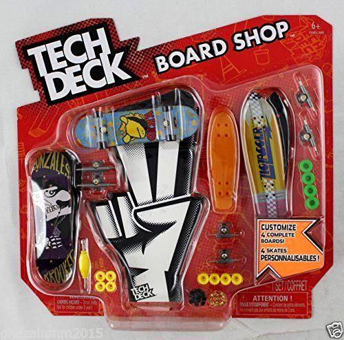 Tech Deck Board Shop w/70mmYellow Penny,ZigZagger,Gonzales Krooked and KRKD #TechDeck
