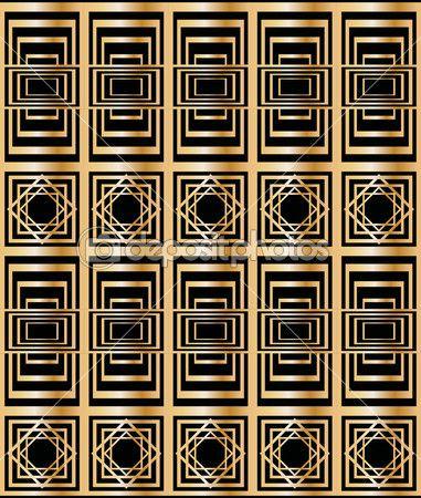 Бесшовный фон с абстрактный геометрический узор в стиле арт-деко — Векторное изображение © ElenaBesedina #36090477