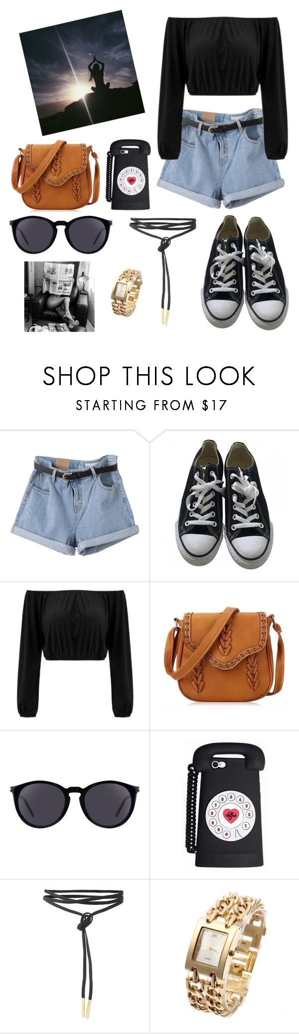 """I don't even know what I'm doing "" by jasloves5sos ❤ liked on Polyvore featuring Converse, Yves Saint Laurent and Carmella"