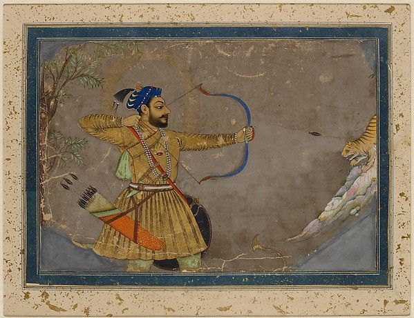 Sultan 'Ali 'Adil Shah II Slays a Tiger / India        c.1660