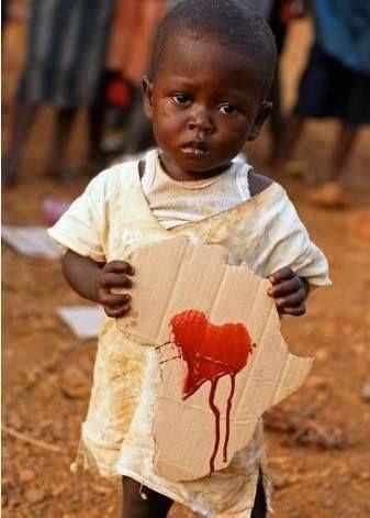 Corazón.  Sonríe África.  Por el futuro