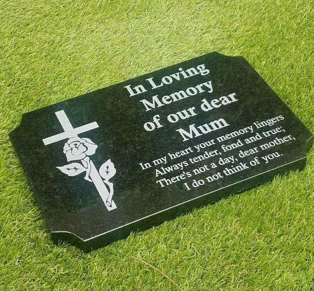 Grave Memorial Plaque Flat Grave Stone Cemetery Memorial Marker