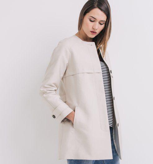 DIY // Trench minimaliste similaire réalisable soi même à partir du patron de couture MAGNESIUM [Femme], Ivanne.S. https://www.ivanne‐s.fr