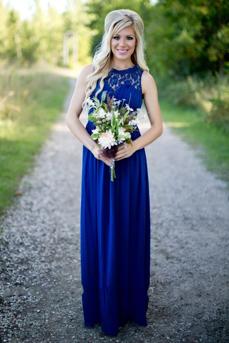 Best 25 country bridesmaid dresses ideas only on for Long blue dress for wedding