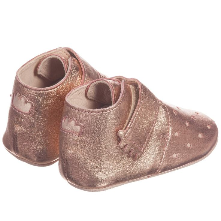 Easy Peasy - Pink Metallic Leather 'Kiny' Pre-Walker Shoes | Childrensalon