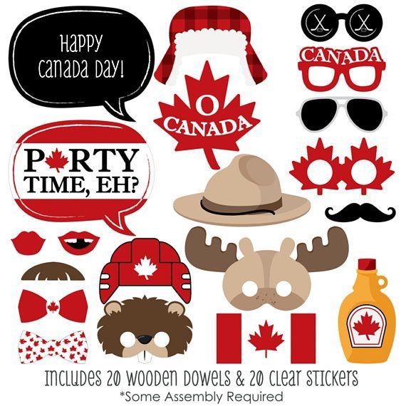 Día de Canadá personalizado Canadá Foto stand Prop Kit O