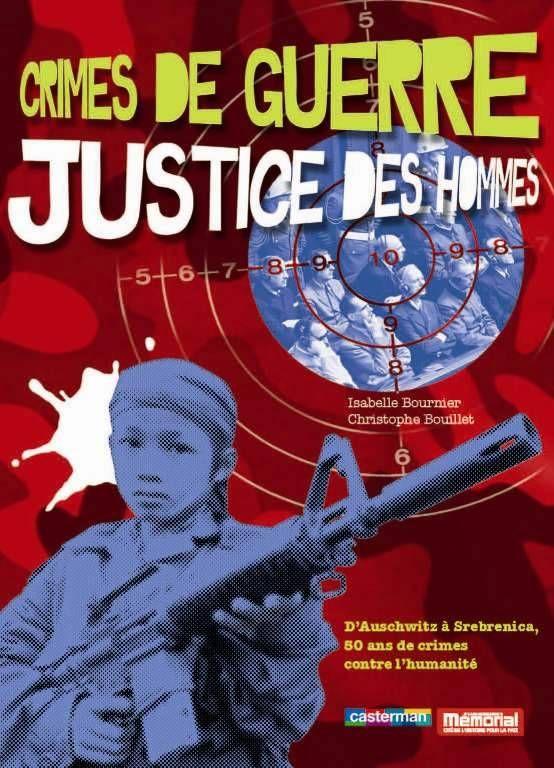 Un album de sensibilisation sur le sujet des crimes de guerre, du massacre des Arméniens au Darfour, en passant par Guantanamo, le sac de Nankin, la Shoah ou le procès de Nuremberg. Sous la forme de doubles pages thématiques, tous les angles sont abordés, accompagnés de photos, de documents et de textes courts.