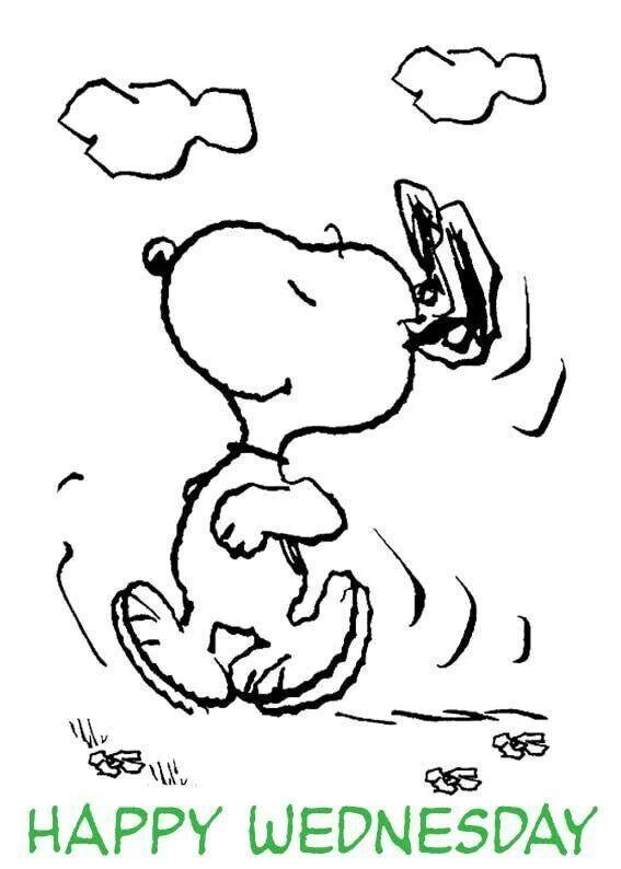 Snoopy Happy Wednesday dance