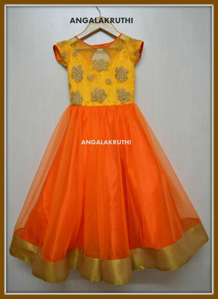 Angalakruthi Ladies and kids boutique in Bangalore Kids gown designs by Angalakruthi