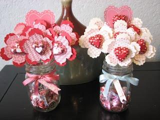 Stampin' Up! Valentine  by Chan at Two Rosie Cheeks: Valentine Fun Flower Bouquets