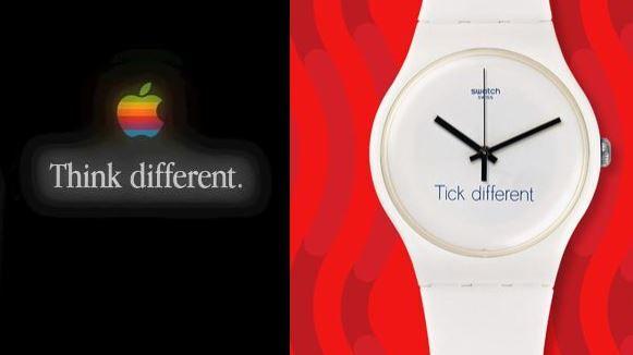 """Apple verklagt Swatch wegen """"Tick Different""""-Kampagne - https://apfeleimer.de/2017/04/apple-verklagt-swatch-wegen-tick-different-kampagne - Apple vs. Swatch: Ein paar von Euch erinnern sich bestimmt noch an die Zeit bevor Apple sein erstes Wearable vorgestellt hat. Die große Frage, die damals im Raum stand war, wie nennt Apple seine Uhr? Und wenn man bedenkt, dass zu der Zeit Produktnamen mit dem kleinen """"i"""" am Anfang ganz hoch im..."""