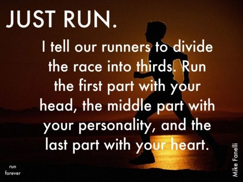 Need to remember this when I run a half marathon in a few weeks.