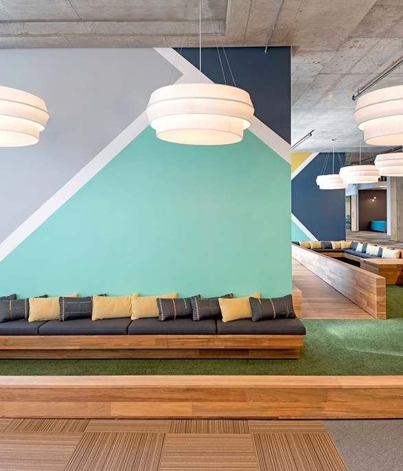 evernote office studio oa 05 silicon valley delta iv pendant by rich brilliant willing in the ciscomeraki office by studio oa spotted lights we love 2018 pinterest wall design and