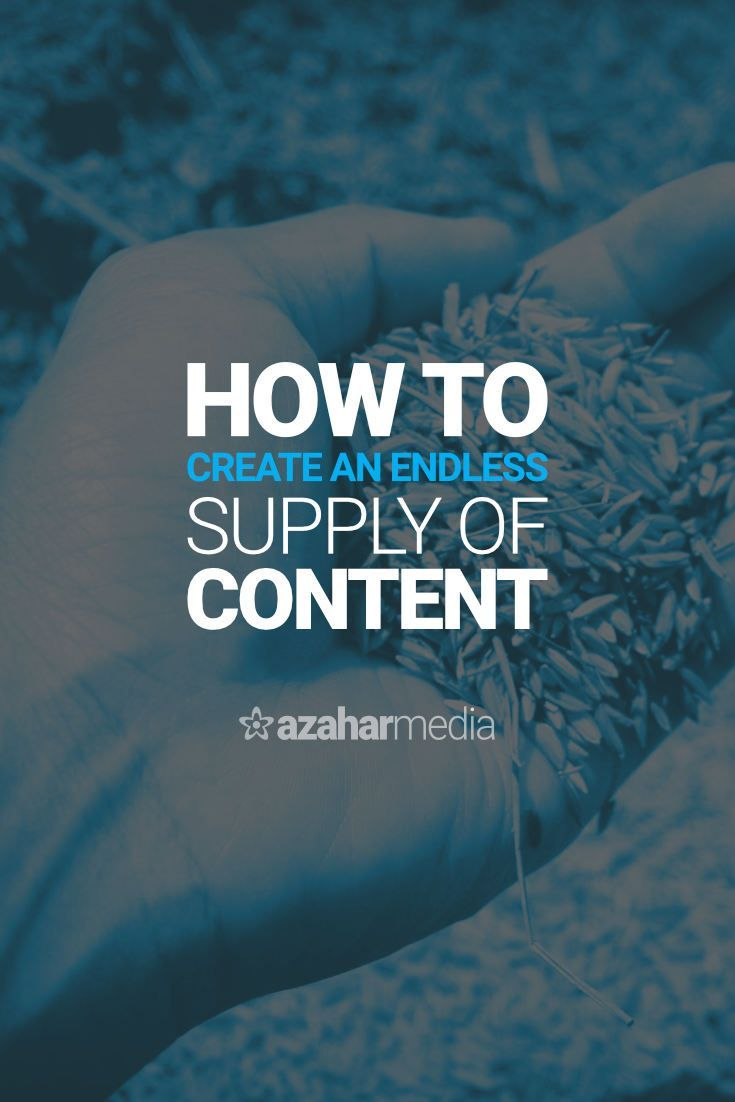 How to Create an Endless Supply of Content That Your Audience Will Love via @davidhartshorne