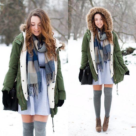 Roho Clothing Dress, Sheinside Jacket, Tb Dress Scarf, Czas Na Buty Shoes, Atmosphere Socks, Reserved Gloves