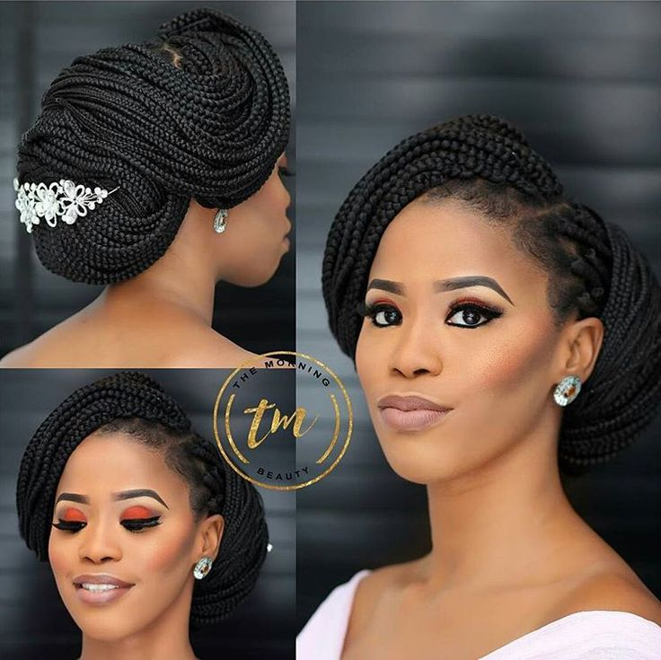 Hairstyles For Weddings Bridesmaid African American: Braided Brides Will Be A Hit This Year. Love This Look On