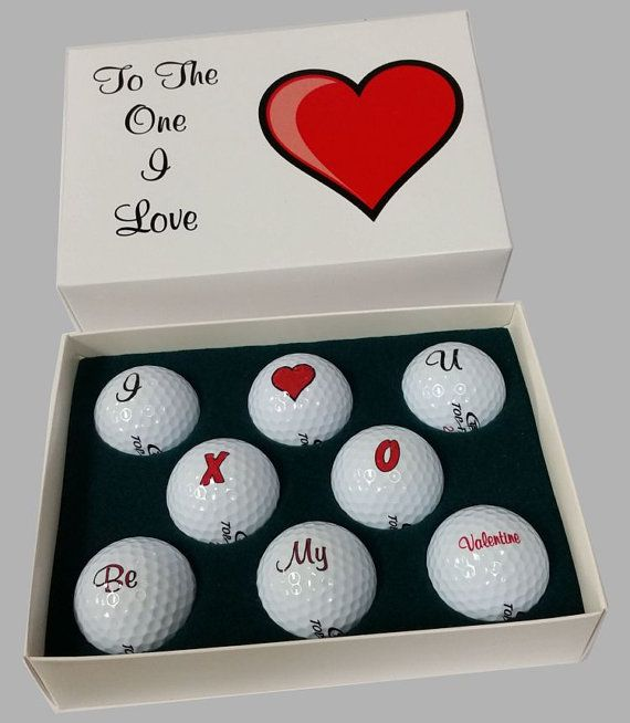 Valentine Golf Ball Gift Golf Valentines And Etsy