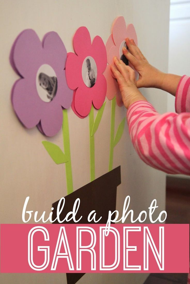 Plants arts and crafts - Build A Photo Garden For Babies Toddlers