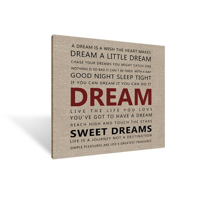 Canvas Print - Dream a little Dream #painting #calligraphy
