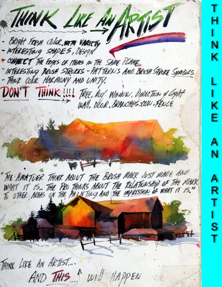 Think Like an Artist Tom Lynch Workshop Lessons…