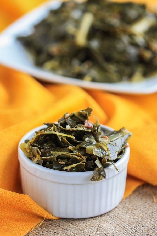 Southern Style Collard Greens: Add some brown sugar, hot sauce, and bacon for a down home dinner idea