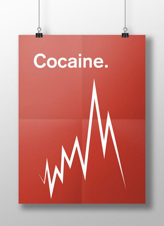 « This is your brain on drugs » est une série de posters minimalistes imaginés par la designer et photographe Meaghan Li, pour un devoir de psychologie, pendant ses études. Par des symboles graphiques, elle a voulu représenter les symptômes de différentes drogues telles que la cocaïne, l'héroïne, le speed, la marijuana ou encore les champignons hallucinogènes.