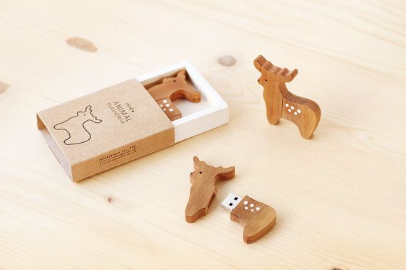 Reindeer and Pine Tree USB Flash drive