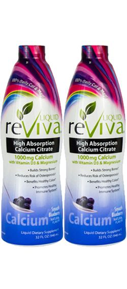 ReViva High Absorption Calcium Citrate - TWIN PACK