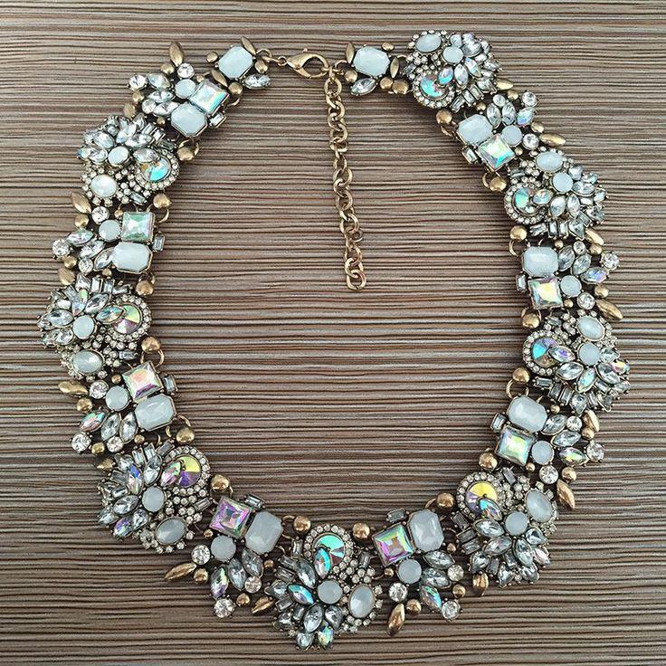 Necklace : Rhinestone Shine AB Crystal Statement Necklace