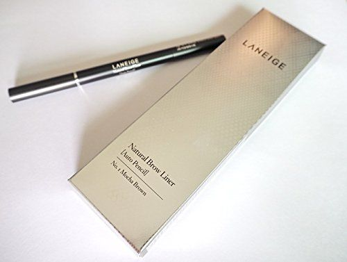 LANEIGE Natural Brow Liner Auto Pencil No.1 Mocha Brown. LANEIGE Natural Brow Liner Auto Pencil No.1 Mocha Brown. Brand : LANEIGE. Qty = 1. Product Size = 0.3 grams. Made in Korea.
