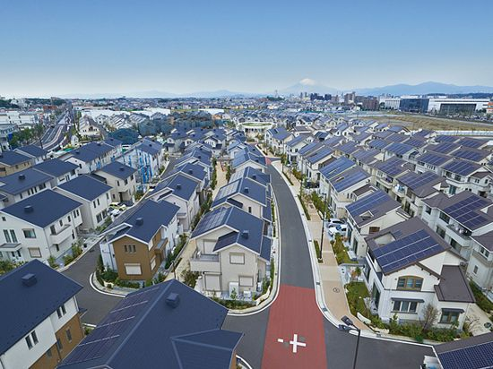 The town was designed by Panasonic to encourage sustainable and environmentally conscious lifestyles. It boasts solar panels, storage batteries and LED lights in every home, along with streets lined with solar-powered streetlights. And thanks to a communal set of storage batteries, the town has three days of backup energy on hand — an emergency stash that can be used if a natural disaster hits.
