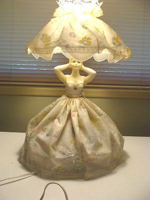 Vintage Dancing Flirting Pin Up Girlie Doll Boudoir