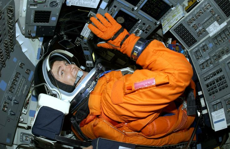 columbia sts 107   ... STS-107 Commander Rick Husband in the cockpit of Columbia during TCDT