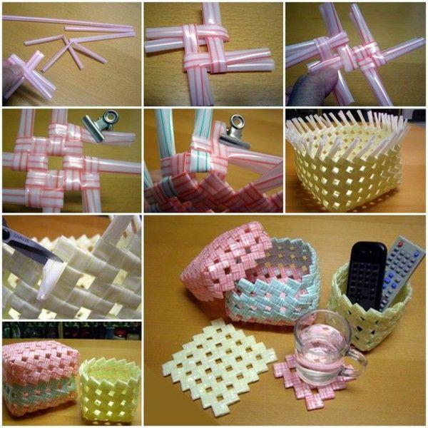 Plastic Art Baskets Themselves Make Creative IdeasDiy