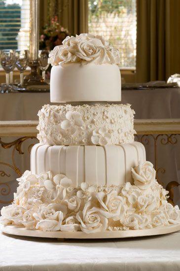 Elegant Wedding Reception | Wedding planners or professional wedding cake shops will have large ...